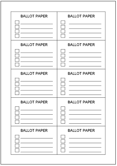 Ballot Form Template Excel on oscar nomination card