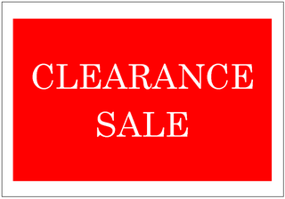 clearance sale sign template excel templates free download. Black Bedroom Furniture Sets. Home Design Ideas