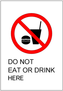 Do Not Eat Or Drink Here Sign Template Excel Templates