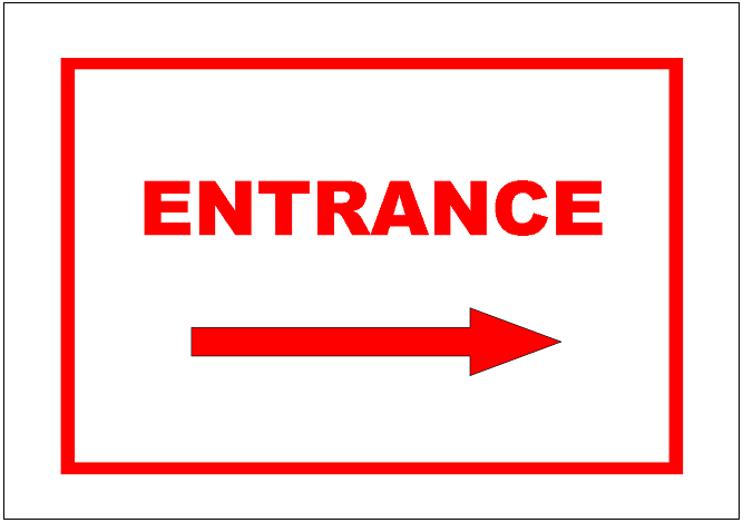 Entrance sign template excel templates free download for Sign templates free downloads