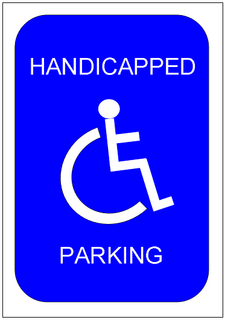Handicapped parking sign template excel templates free for Handicap parking sign template