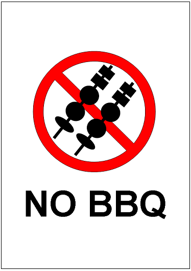 No Bbq Sign Template Excel Templates Free Download