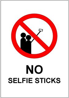 no selfie sticks sign template excel templates free download. Black Bedroom Furniture Sets. Home Design Ideas